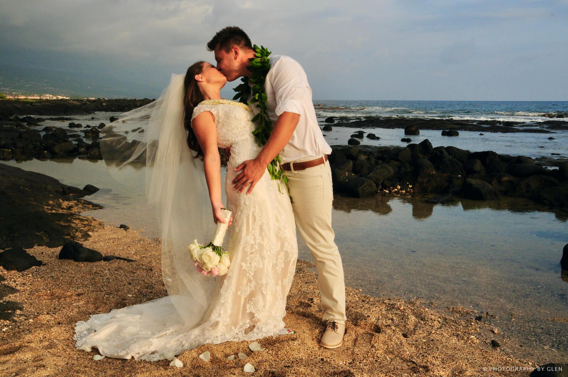 Beach Wedding Photography in Kona, Hawaii